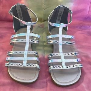 The Children's Place Holographic Gladiator Sandals